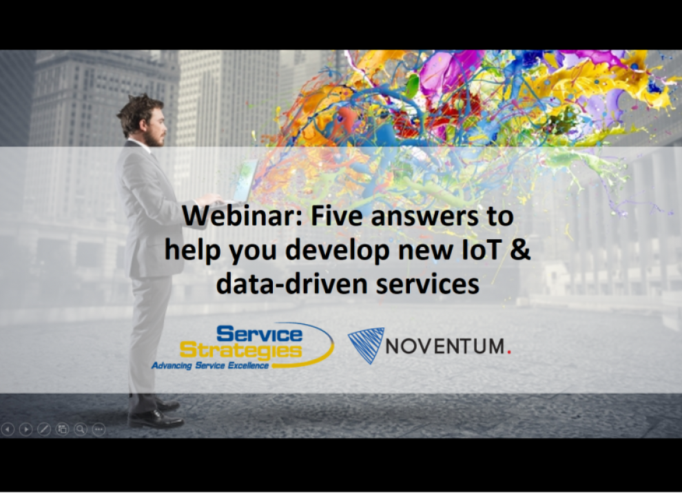 Five answers to Develop IoT & Data-Driven Services Webinar
